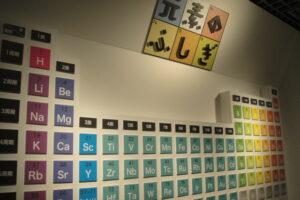 国立科学博物館の元素プレート