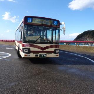 京福バス車両の前面