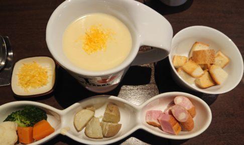 湯島天神横のラクレットグリル、スイス料理とスイスワインのお店のチーズフォンデュ
