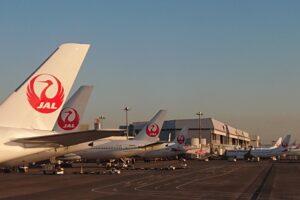 JALの駐機場の風景