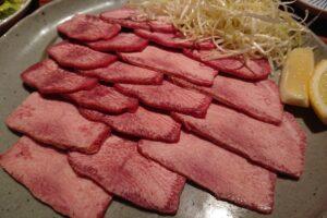 焼肉の慶州春吉店の特上タン