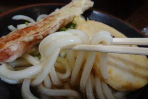 高松のセルフうどん、松山製麺所のうどん