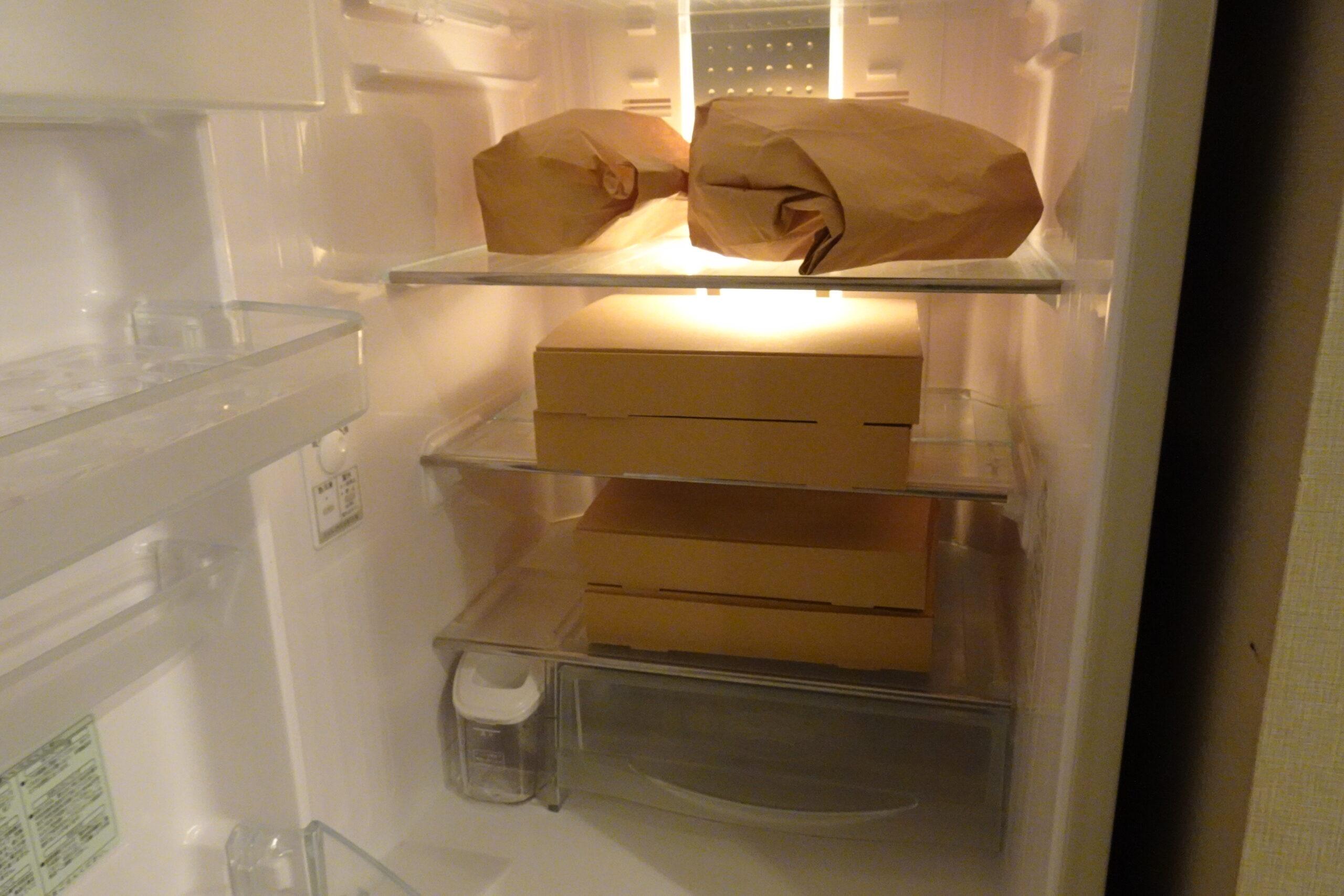 キャメルゴルフ&ホテルリゾートのBBQセットは冷蔵庫に入っています