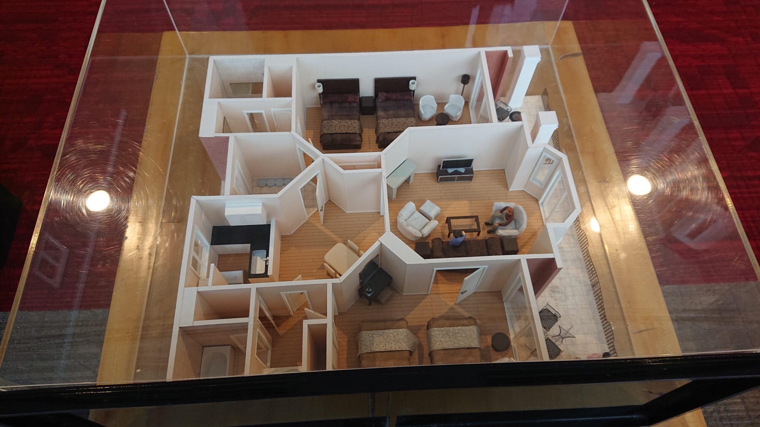 キャメルゴルフ&ホテルリゾートのスイートヴィラの模型