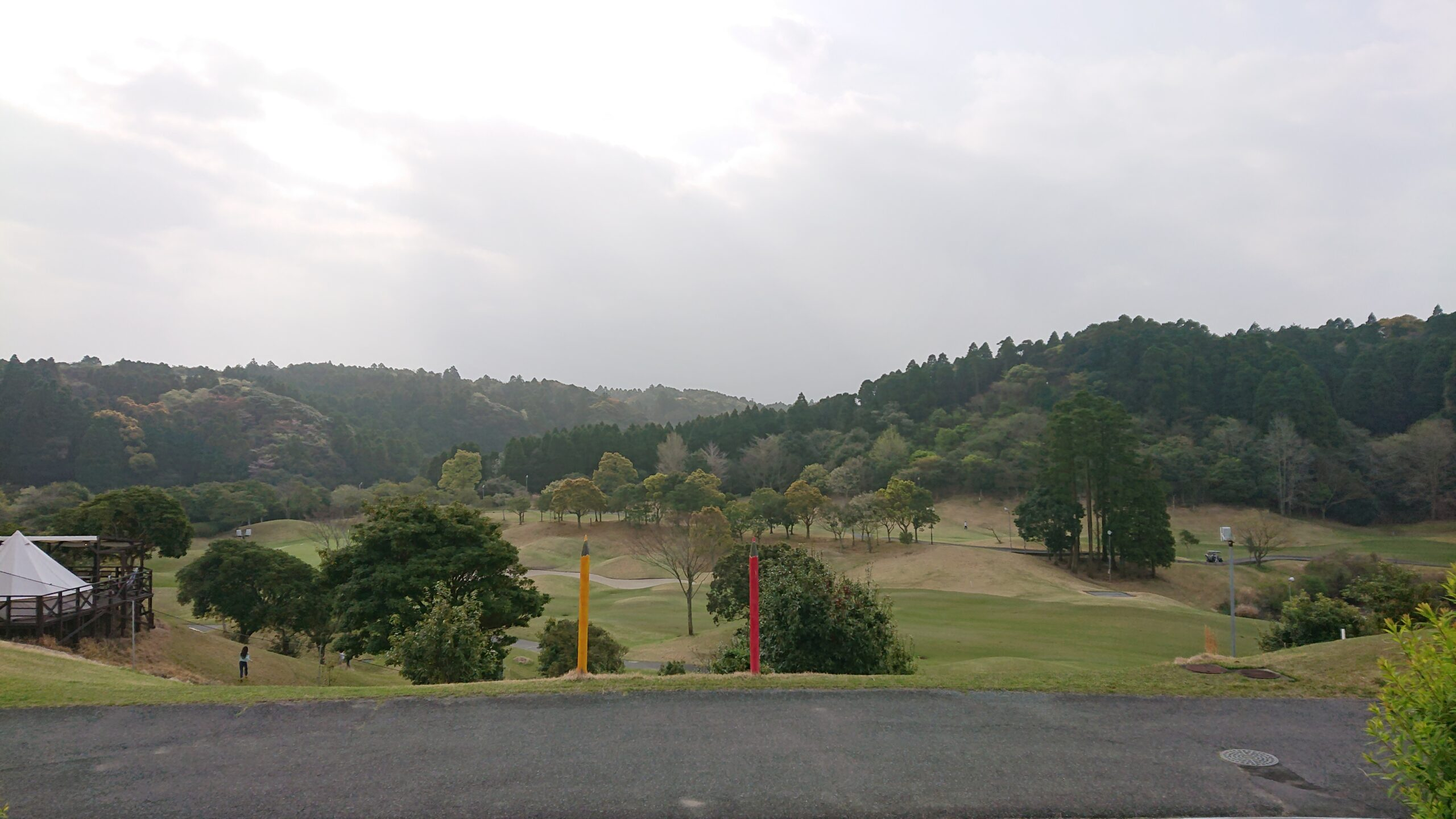 キャメルゴルフ&ホテルリゾートのスイートヴィラからの眺め
