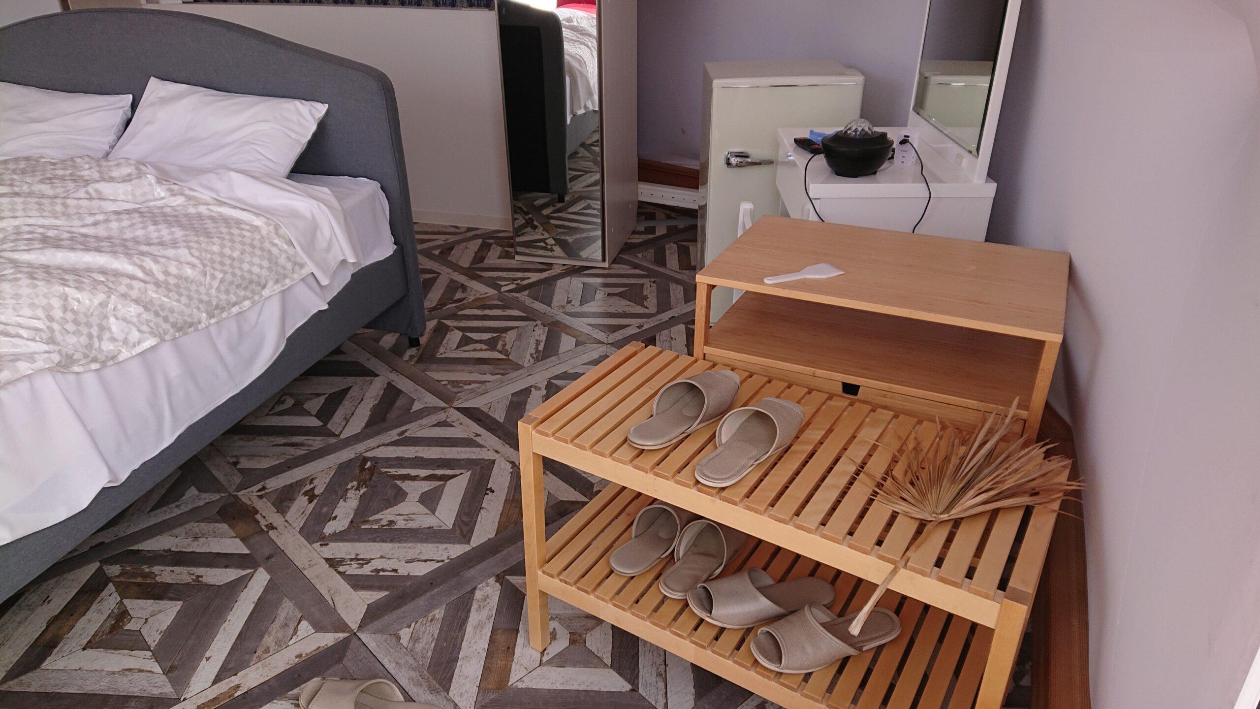 キャメルゴルフ&ホテルリゾートのドームテントグランピングは土足厳禁