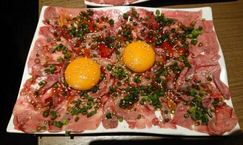 タンとタン焼肉いわしげ五反田店の特選炙りタンユッケ