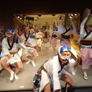阿波踊りミュージアム内のディスプレイ