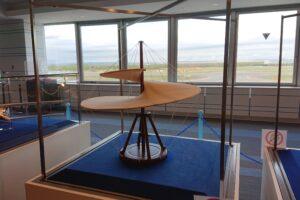 新千歳空港にある大空ミュージアムにあるダヴィンチのヘリコプター