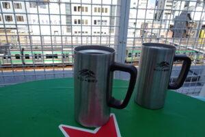 上野アメ横屋上ビアガーデンのビール