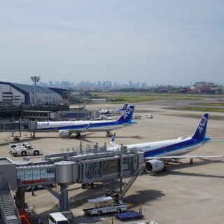 大阪空港(伊丹空港)の展望デッキの風景