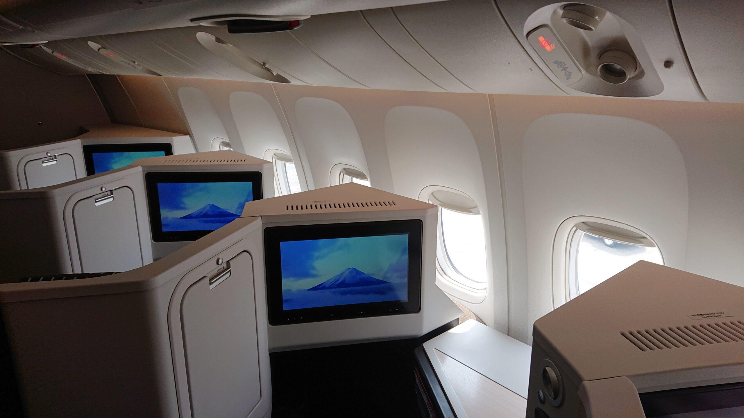 日本航空(JAL)のフルフラットシート