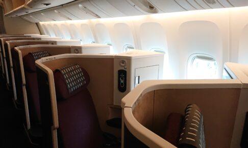 JAL国際線仕様機材のビジネスクラス