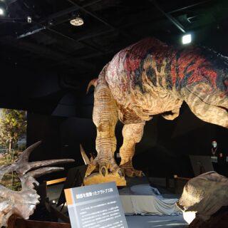 東京ドームシティで開催されている恐竜展2021のティラノサウルスは動きます