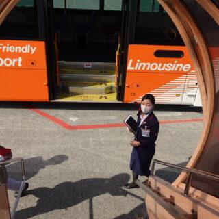 羽田空港の沖止め時のバス乗車