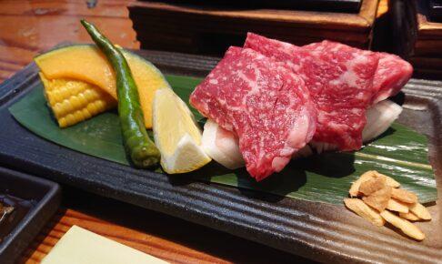 宝川温泉汪泉閣の夕食の上州牛ステーキ