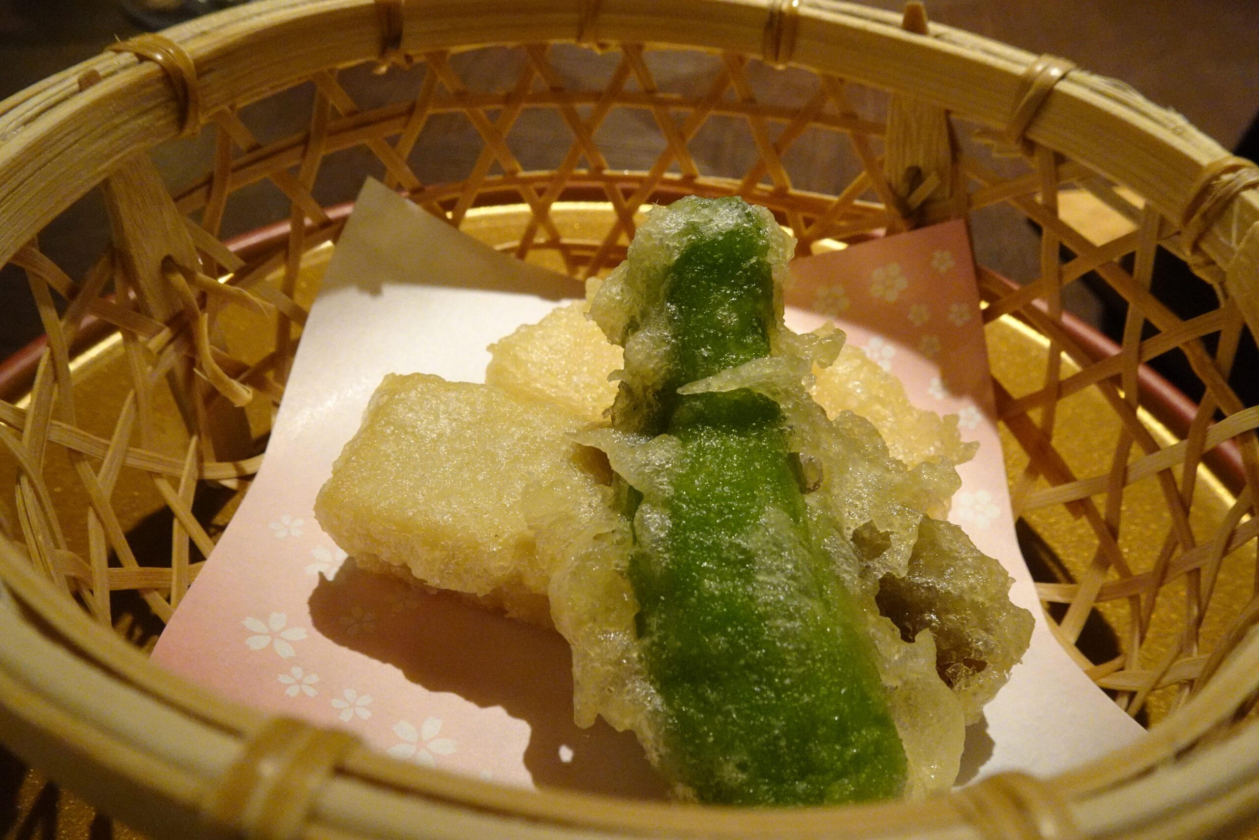 湯元こんぴら温泉華の湯紅梅亭の天ぷら