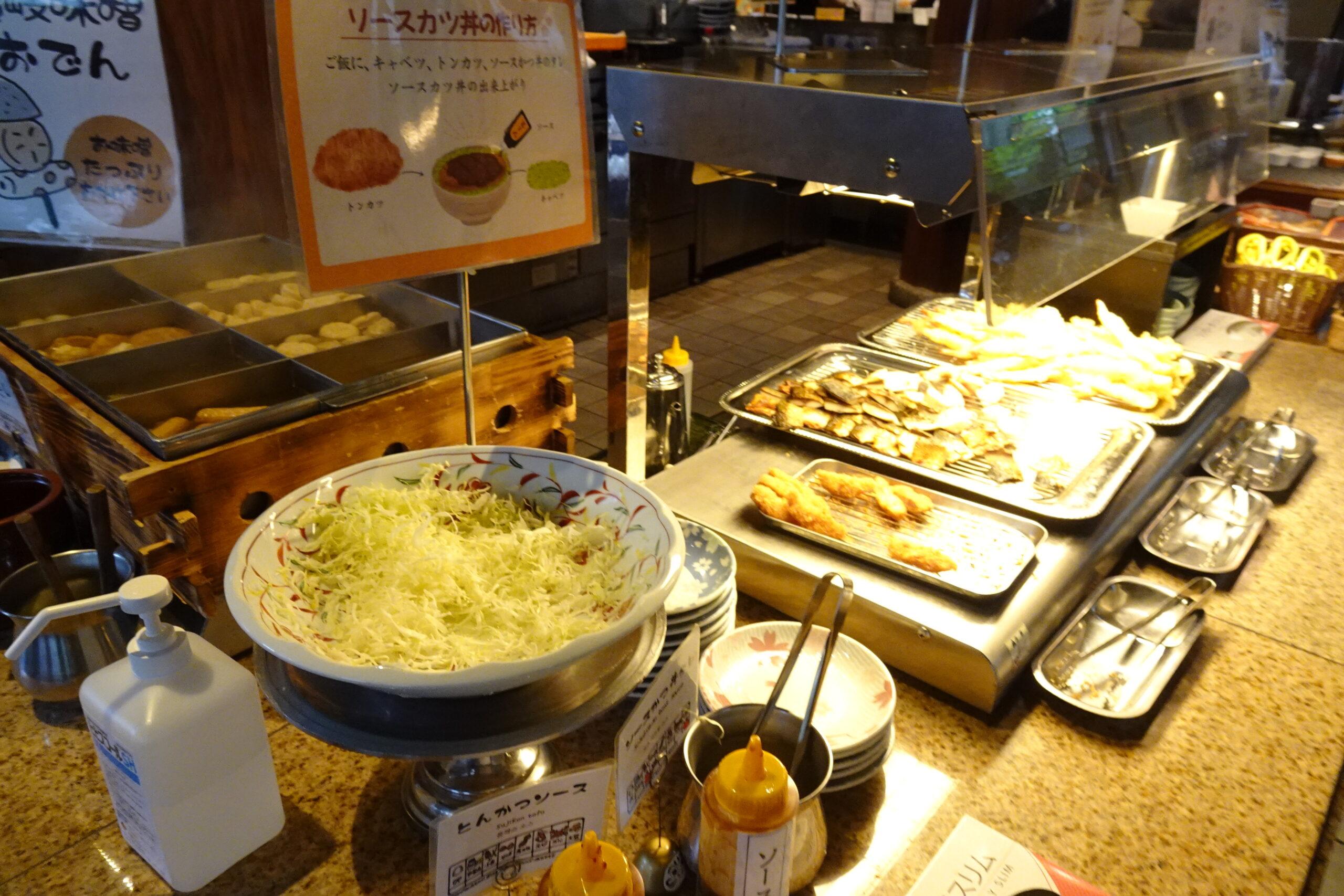 湯元こんぴら温泉華の湯紅梅亭の朝食ブッフェ
