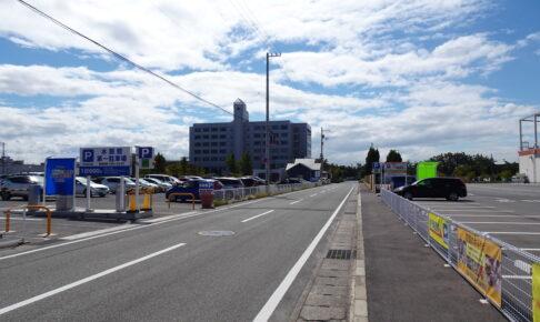 四国水族館とゴールドタワー駐車場は道を挟んですぐ